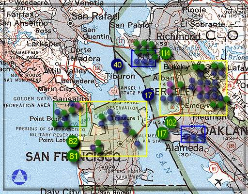 Kite Aerial Photography - SF Bay Map (2)